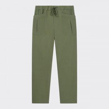 Pantalon Cargo Coton & Lin: Olive