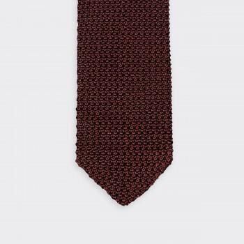 Cravate Tricotée « V » : Marron