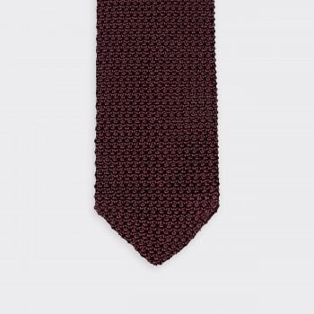 Cravate Tricotée «  V  » : Bordeaux