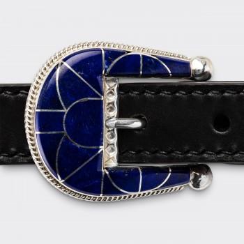 Native American Lapis-Lazuli Ranger Belt : Black