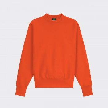 Sweatshirt Col Rond : Orange