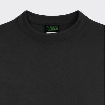 Sweatshirt Col Rond : Noir