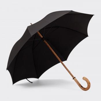 One-piece Hickory Umbrella : Black