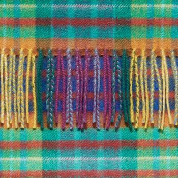 Écharpe Cachemire Tartan : Multicolore