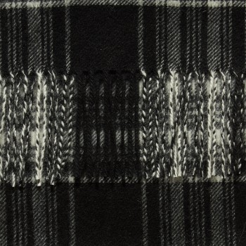Écharpe Cachemire Tartan : Noir/Blanc Dress Stewart